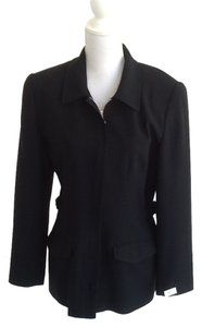 Paniz Gaberdine Invisible Zipper. Multi-purpose. Simple Elegance. Vintage Black Jacket
