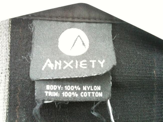 Anxiety Enbossed Design All Occasions Very Sexy Top Black on Black