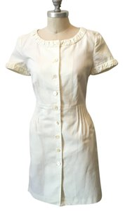 Ports 1961 short dress Ecru White Cotton Canvas Classic on Tradesy