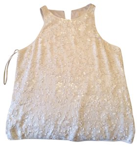 J.Crew Top White Sequin