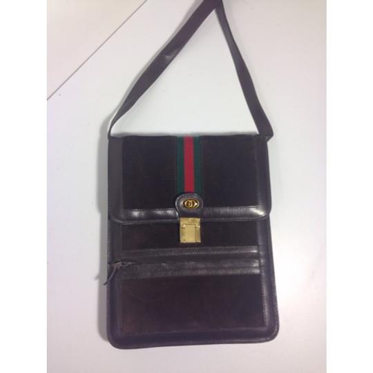Gucci Vintage Shelley Line Leather Shoulder Bag