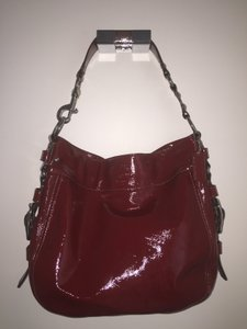 Coach Patent Leather Tote in Red