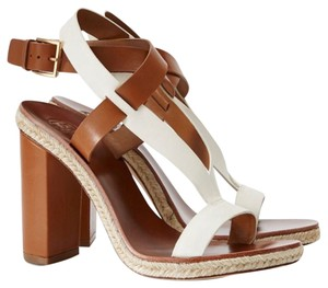 Tory Burch Ivory & tan Sandals