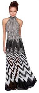 Black/White Maxi Dress by Ark & Co. Evening Sleeveless Party