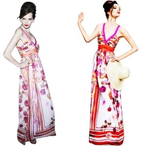 Multi Maxi Dress by Alberta Ferretti Maxi Floral Empire Waist Garden Party