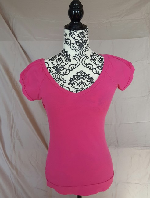Other Shirt Peekaboo Back T Shirt Pink