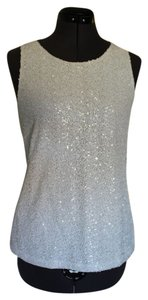 Ann Taylor LOFT Blouse Sparkle Top White