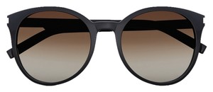 68692758e6772 Saint Laurent Saint Laurent Classic 6 Sunglasses in Black Acetate with Brown  Gradient Lenses