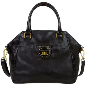 Elliott Lucca Leather Medium Faro Lucca Satchel in Black