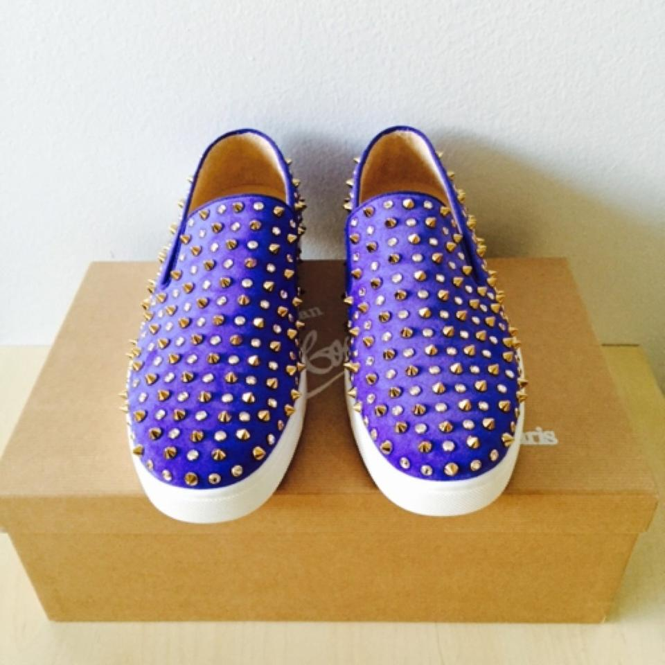 christian louboutin men rollerboy spikes - Christian Louboutin Violet Roller 1c1s Studded Crystal Suede ...