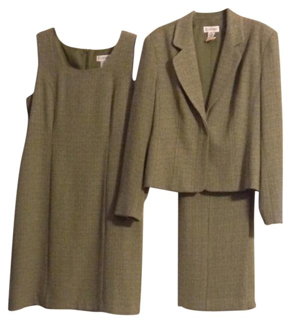 Item - Olive Green with White Pant Suit Size 14 (L)