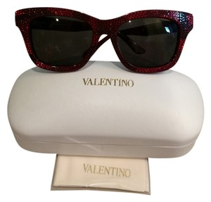 Valentino New! Valentino Crystal Camouflage Red Sunglasses!