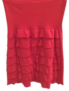 Max Studio Mini Skirt Coral