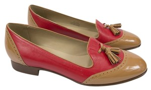 J.Crew Tassels Loafer Patent Red/Tan Flats