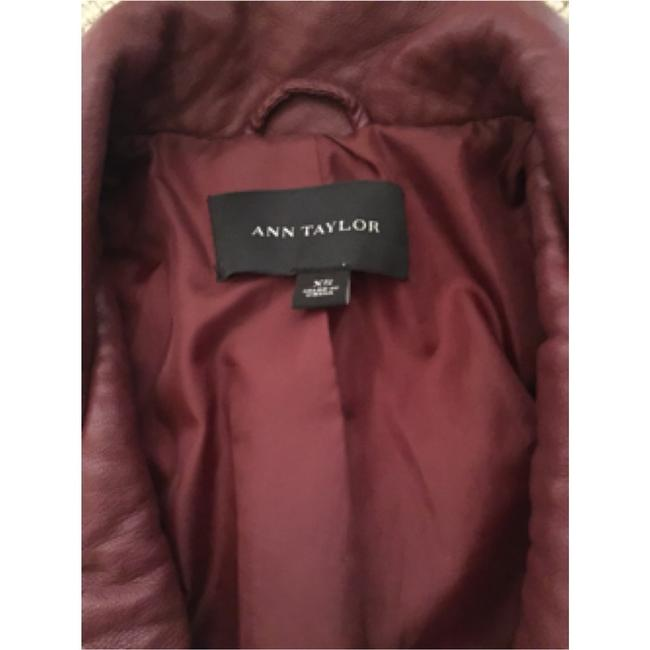 Ann Taylor Burgundy Leather Jacket