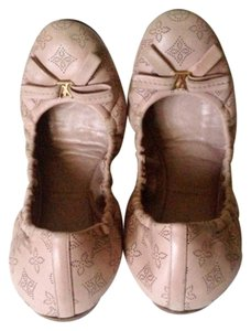 Louis Vuitton Italy Leather Rose Monogram Rose Poudre Flats