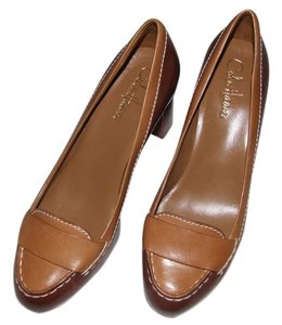 Cole Haan Brown Leather Tan Leather brown/tan Pumps