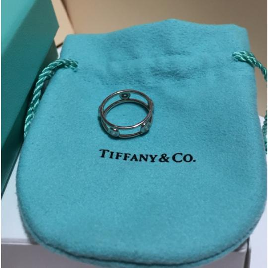 Tiffany & Co. Tiffany & Co / Elsa Peretti - PLATINUM Diamond by the Yard Ring - Size = 4 Image 4