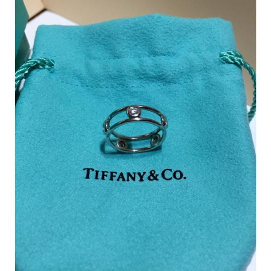 Tiffany & Co. Tiffany & Co / Elsa Peretti - PLATINUM Diamond by the Yard Ring - Size = 4 Image 5