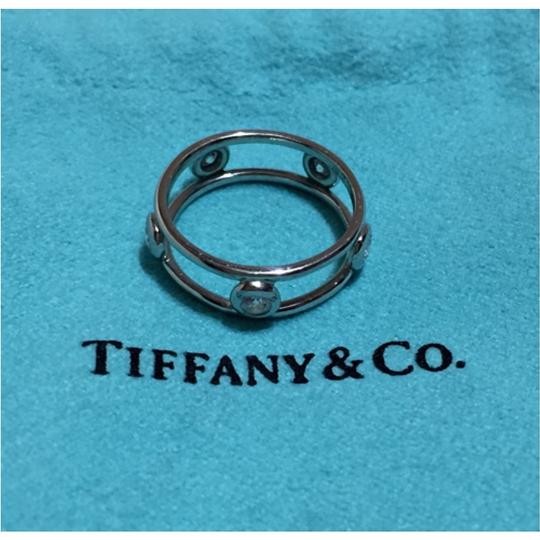 Tiffany & Co. Tiffany & Co / Elsa Peretti - PLATINUM Diamond by the Yard Ring - Size = 4 Image 6