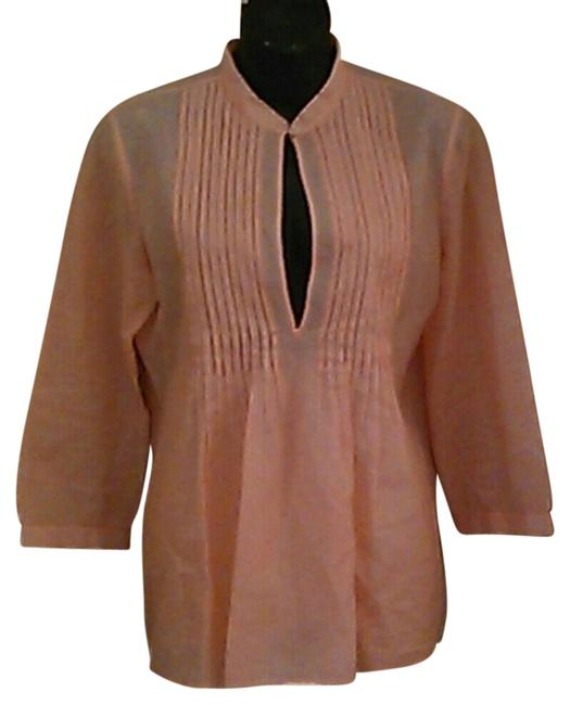 Theory Silk Top orange white