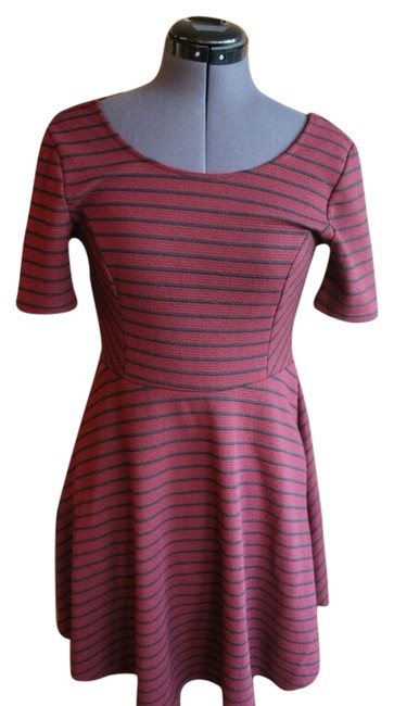 Lush short dress Maroon and Black A-line Sleeveless on Tradesy