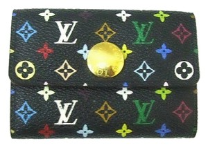Louis Vuitton Authentic Louis Vuitton Multicolore Monogram Noir Card Case w/ Natural Interior