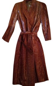 Real Snake Skin Trench Coat
