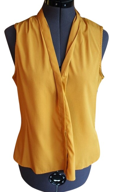 Banana Republic Silk Top Mustard Yellow
