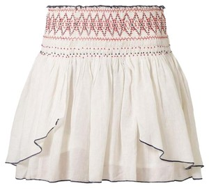 Free People Mini Tribal Bohemian Mini Skirt Ivory