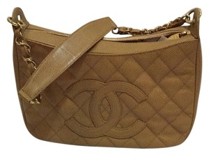 Chanel Shoulder Beige Clutch