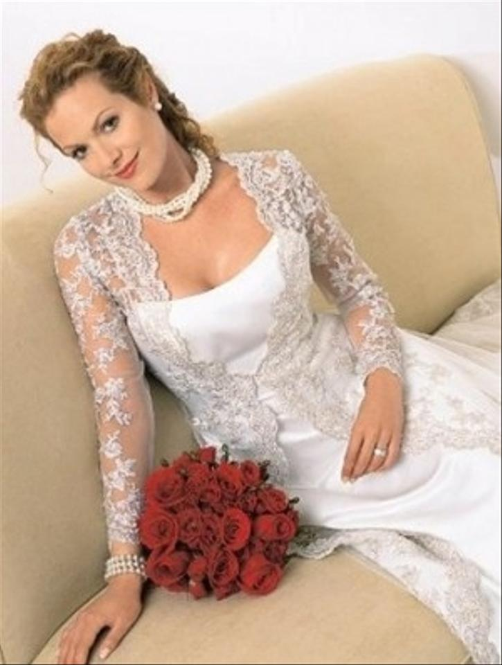 Alfred angelo 1755 free shipping wedding dress for Alfred angelo black and white wedding dress