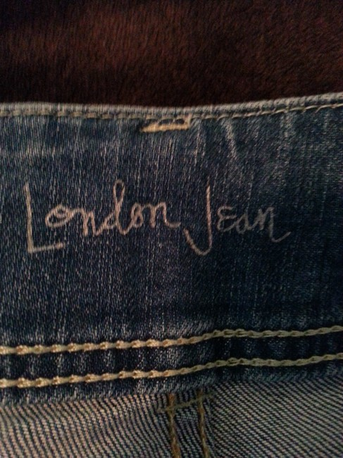 London Jean Flare Distressed Boot Cut Jeans-Distressed