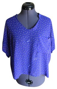 Lush Patterend Top Royal Blue