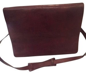 Crossbody Strap Briefcase Brown Messenger Bag