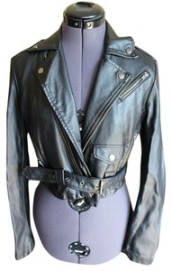 Sparkle & Fade Cropped Leather Jacket