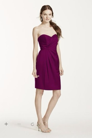 New Strapless Satin Short Dress With Pleating