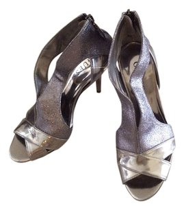 Guess Patent Leather Gray Platforms
