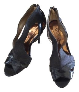 Guess Patent Leather Black Platforms
