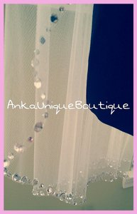 Crystals Fingertip Wedding Veil