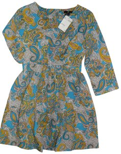 H&M short dress Tourquoise Paisley Turquoise on Tradesy