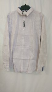 Harvé Benard Light Pink Plaid Heritage Men's Long Sleeve Button Up Size L Shirt