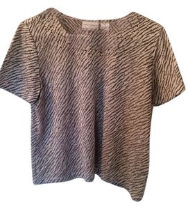 Alfred Dunner Top Black/white