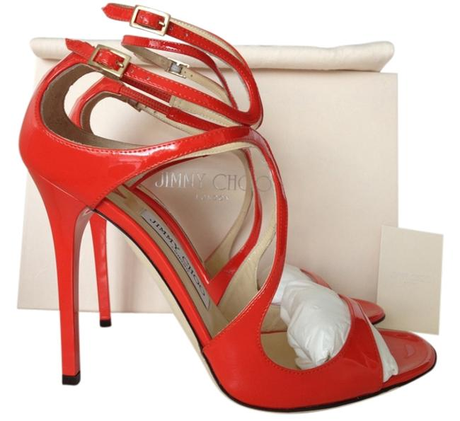 Item - Flame Red Lance 115 Patent Leather 38.5 Sandals Size US 8.5 Regular (M, B)