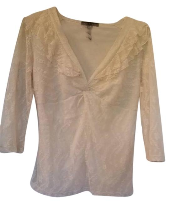 Preload https://item5.tradesy.com/images/apostrophe-ivory-lined-lace-10-12-34-sleeve-blouse-size-10-m-5840059-0-0.jpg?width=400&height=650