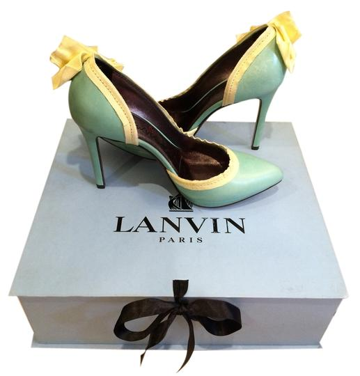 Preload https://img-static.tradesy.com/item/5840179/lanvin-teal-new-d-orsay-bow-leather-pumps-size-us-75-0-0-540-540.jpg