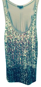 Express Top grey with graduated colored sequined front