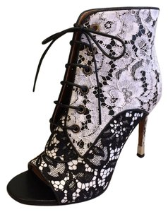 Givenchy Black White Lace Boots