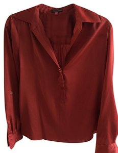 Vince Camuto Fall Silk Top Orange