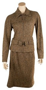Ellen Tracy Company Ellen Tracy Brown Wool Skirt Suit, Size 6 (44198)
